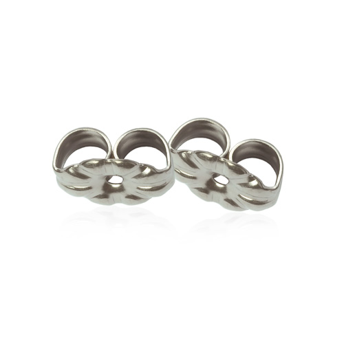 Skin friendly earring backs for titanium earrings