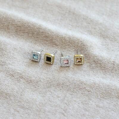 A favourite earring Brilliance Cushion, now available  in more colours. Treat yourself at blomdahl.com 🎁  #feelgoodjewellery #allergivänliga #smycken #nickelfria #örhängen #halsband #armband #smyckenonline #tidlösdesign #madeinsweden #jewellery #jewelry #inspo