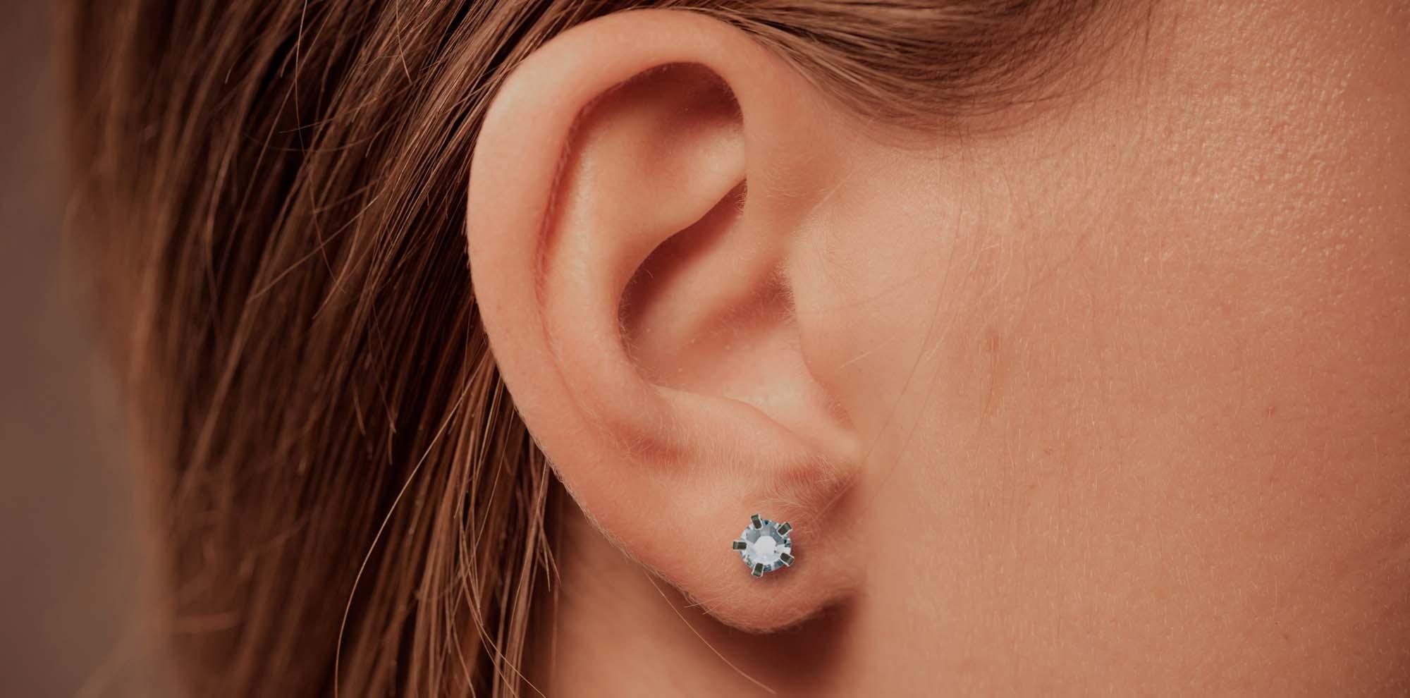 Skötselråd - hål i öronen